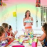 DAOUZL 64pcs Partygeschirr Set, Partygeschirr Kindergeburtstag, Perfektes Partygeschirr Set, Partygeschirr Geburtstag Party set mit Pappteller, Pappbecher und Servietten für 16 Gäste - 3