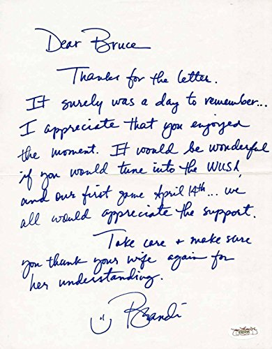 Brandi Chastain Signed Personal Letter Usa Soccer Authenticated E82435 - JSA Certified - Soccer Autographed Miscellaneous Items