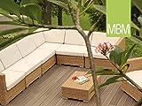 MBM Luxus Rattanlounge Mirotex-Twist Lounge Bellini/Polyrattan/Gartenlounge/Balkonlounge/Terrassenlounge