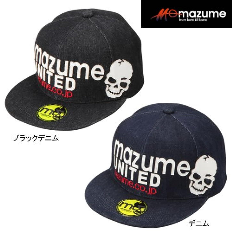 テスピアン援助する徐々にMAZUME(マズメ) FLAT CAP デニム MZCP-300-01 ブラックデニム フリー