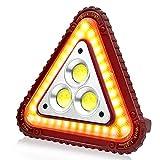 SunTop LED Ricaricabile Lampada, Luce di emergenza triangolare, lampada da lavoro a COB Lampada, Lanterna da campeggio per riparazioni auto d'emergenza all'aperto 4 modalità Regolabili