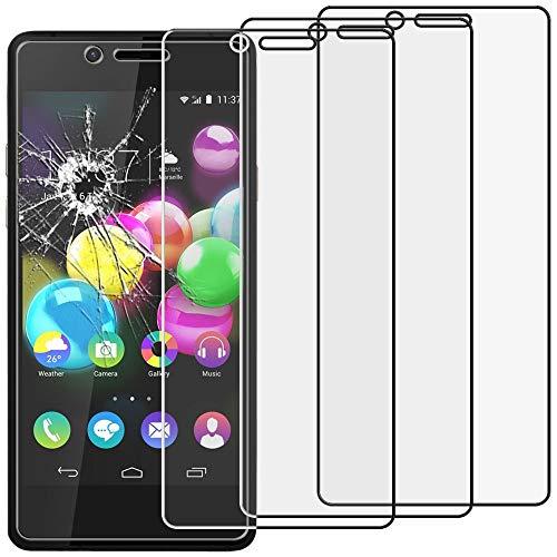 ebestStar - kompatibel mit Wiko Highway Pure 4G Panzerglas x3 Schutzfolie Glas, Schutzglas Bildschirmschutz, Bildschirmschutzfolie 9H gehärtes Glas [Phone: 141.9 x 68.1 x 5.1mm, 4.8'']