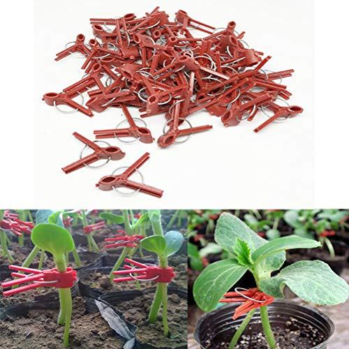 Linpu Pflanzenklammern - 100PCS-Pflanzen Veredelungsklammern Kunststoffveredelungsklammern Praktische Gartenpflanzenklammern