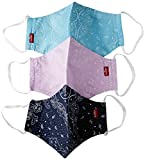 Levi's Unisex 3pk Reusable Face Cover Bandana, colore Azul, mordao, topacio L
