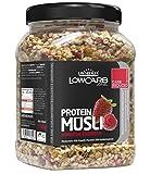 Layenberger LowCarb.one Protein Müsli Himbeer-Erdbeer, 3er Pack (3 x 565 g) -