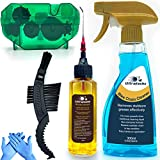 Ultrafashs Bike Chain Oil Lubricant and Cleaner Set with Bicycle Degrease,Wet Lubricant,Chain...
