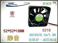 5218 5.2CM cm 52*52*18MM 12V hydraulic bearing DC cooling fan