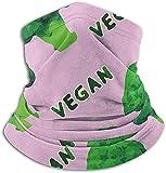 N/A Calentador de microfibra para el cuello Brócoli Vegano Verde Rosa Cuello de tubo Polaina Calentador de oídos Diadema Bufanda Mascarilla Pasamontañas