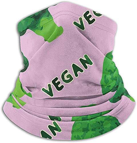 Nice-Guy Mikrofaser Nackenwärmer Brokkoli Vegan Grün Rosa Nackenschutz Tube Ohrwärmer Stirnband Schal Gesichtsmaske Sturmhaube