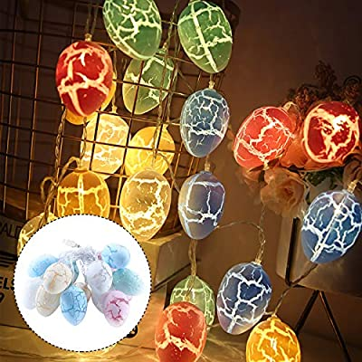 Amazon - Save 80%: Easter Eggs Wire String Lights Battery Operated Light Party Home Decor La…