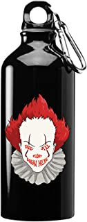Hat Shark We All Float Down Here Horror Movie Clown 3D Color Printed 17 oz Stainless Steel Water Bottle Black