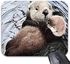 Sea Otter Mom Mouse Pads 9 x 7.5