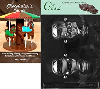 Cybrtrayd 'Medium Hollow Snowman' Christmas Chocolate Candy Mold with Chocolatier's Guide