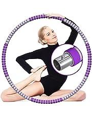 Hula Hoop hoelahoepel voor volwassenen, van roestvrij staal en schuim, afneembare hoelahoep met 8 afneembare secties, 68-91 cm, geschikt voor fitness sport