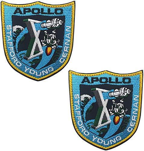 Juego de 10 parches de misin de la NASA Apolo para disfraz de 2.95 x 3.14 pulgadas, tamao