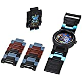 Lego Legends of Chima Children's Gorzan Minifigure Quartz Watch with Blue Dial Analogue Display and Multicolour Plastic Strap 9000447