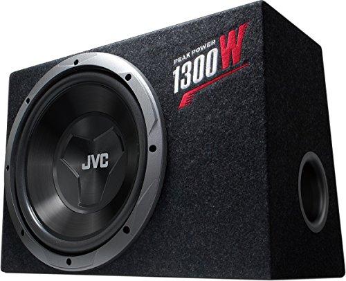 JVC CS-BW120 Equipo de Subwoofer de 300 mm | Caja de Tamaño Compacto y Fácil Instalación. Potencia Pico de 1300 W y Potencia Nominal de 150 W.
