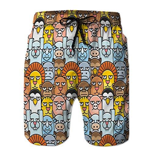 Youth Boys' Shorts Summer Beach Shorts Casual Pants Cartoon Animals Pattern Seam