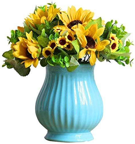 Pastorale simulatie zonnebloembloem set decoratie kunstbloemen Bouquet (Geel)