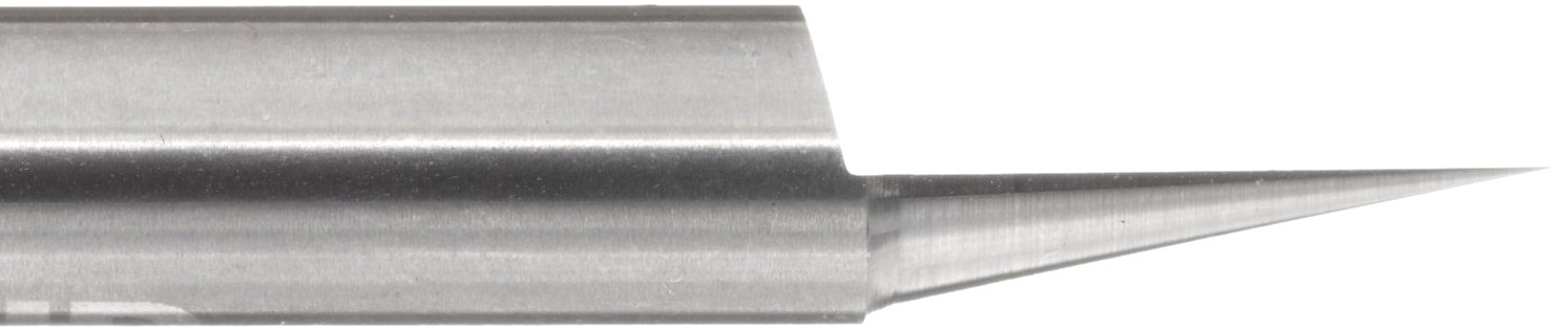30 Degree LMT Onsrud 37-21 Solid Carbide Engraving Tool Bright 1 Flute Uncoated Finish 0.005 Tip Diameter 2 Overall Length 1//4 Shank Diameter Pack of 1