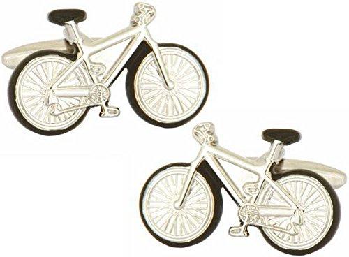 Argent vélos boutons de manchette de David Van Hagen
