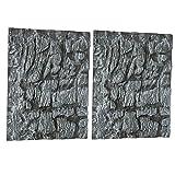 lackingone - sfondo per acquario 3d in polistirene realistico, decorazione classica