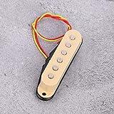 Pastilla de sonido Single Coil con imán para guitarra eléctrica ST For Musican Lovers.(cream color)