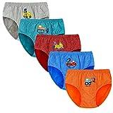 Baoji Boys Underwear, FunkyDog Cotton Underwear Toddler Underwear,Cars Pattern Men Underwear Boxer Briefs(Pack of 5)(2T-3T)