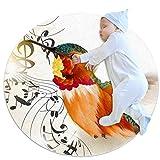 Alfombra De Gateo Ilustración de Alondra Alfombra Redonda Infantil Antideslizante Tapete De Juego Pequeña para Dormitorio niños 70x70cm