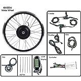 GJZhuan Hub ebike Kit 48V 350W Rueda Delantera eléctrica Kit de conversión de Rueda de Bicicleta con Motor LCD6 Display 16-28 Pulgadas 700C ebike,26inch LCD Sets