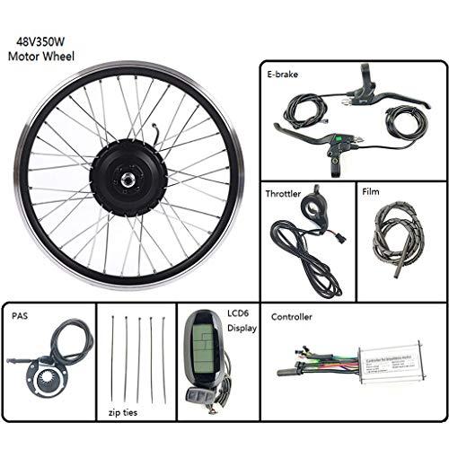 GGD Elektro-Fahrrad Umbausatz 48V 350W Rad-Elektro-Fahrrad-Umwandlungs-Kit Nabe Motor Rad mit LCD6 Anzeige 16-28 Zoll 700C E-Bike,28inch LCD Sets