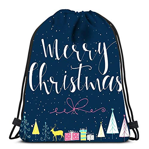Lsjuee Drawstring Backpack Bags Blue Fireworks Black Drawstring Hiking Backpack Gym Bag