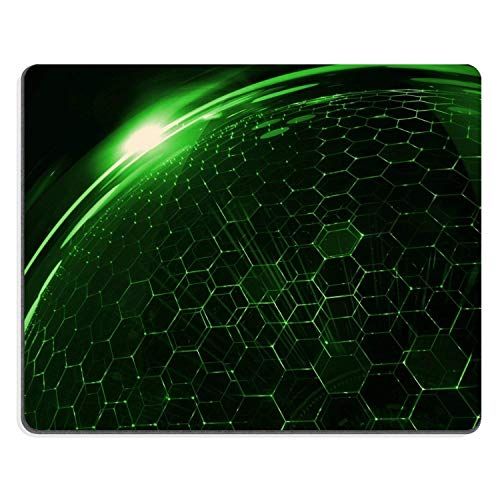 Pattern Green Crystal Structure Mouse Pads Customized Made to Order Support Ready 9.8 X 11.8 Eco Friendly Cloth with Neoprene Rubber Liil Mouse Pad