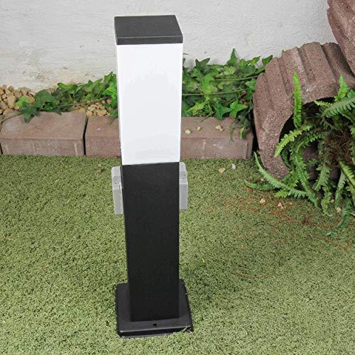 Edle Stehleuchte mit 2 Steckdosen für den Außenbereich Wegbeleuchtung 230V E27 Gartenbeleuchtung