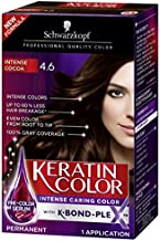 Schwarzkopf Keratin Color Permanent Hair Color Cream, 4.6 Intense Cocoa (Packaging May Vary)