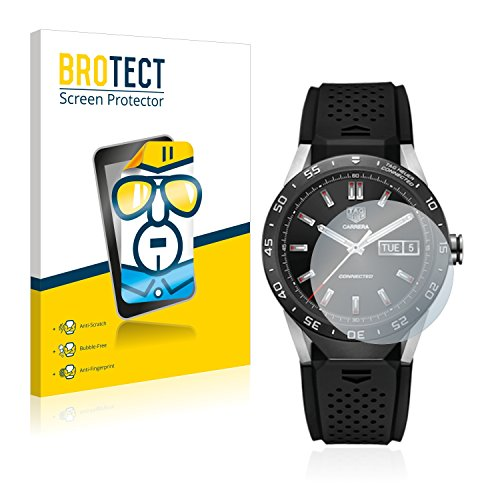 BROTECT Protector Pantalla Compatible con Tag Heuer Connected 46 Protector Transparente (2 Unidades) Anti-Huellas