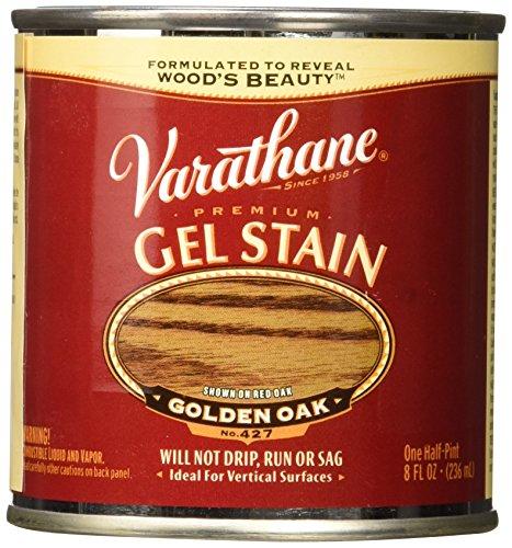 Varathane 224497 Premium Gel Stain, Half Pint, Golden Oak