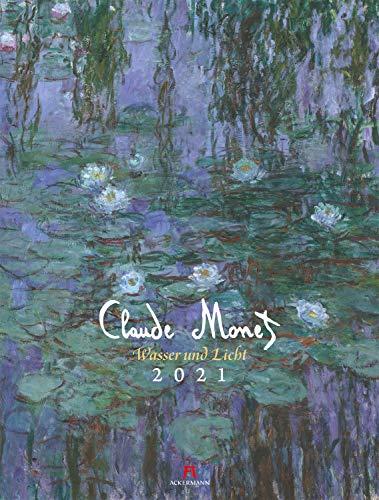 Claude Monet Kalender 2021, Wandkalender im Hochformat (50x66 cm) - Kunstkalender (Impressionismus)