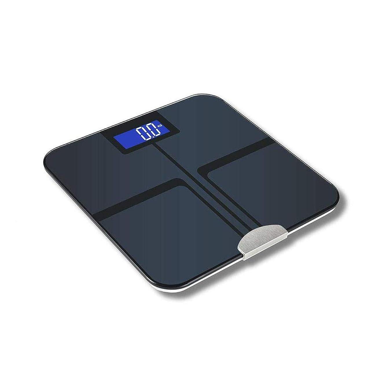 岸パックカリキュラムデジタル多機能体脂肪計、家族の電子体重計健康体組成計ブルートゥース体脂肪計スマートbmi浴室ワイヤレス体重計