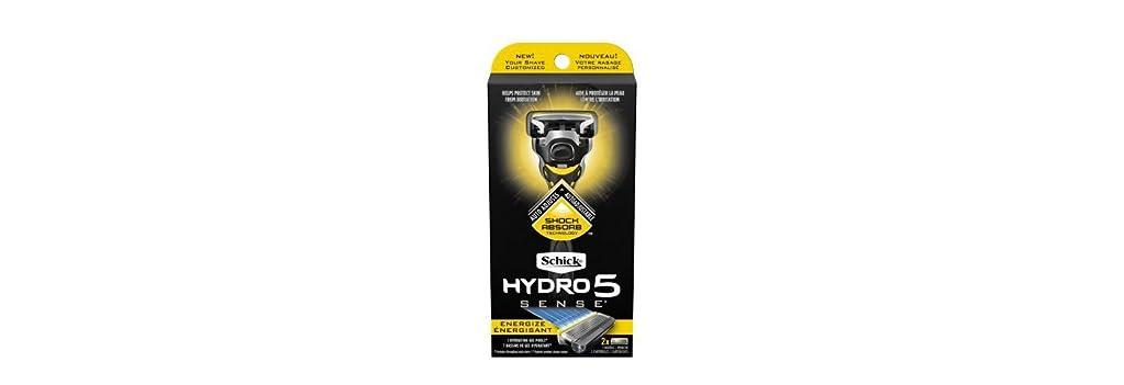 確認してください屋内アイザックSchick Hydro5 Sense Energize 1 handle + 2 razor blade refills シックハイドロ5 センス?エナジー 本体1個+剃刀刃2個 [並行輸入品]