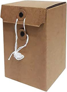 36 pcs Plain Brown Cardboard Gift Boxes 36 pieces - 13x13x20cm