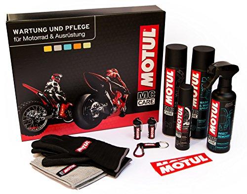 Preisvergleich Produktbild Motul Motorrad-Geschenkbox Geschenkidee für Motorradfahrer und Biker,  als Weihnachtsgeschenk & Geburtstagsgeschenk,  EIN Geschenkset und Motorrad Pflegeset für Motorradliebhaber