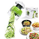 cucumber pasta maker - Handheld Spiralizer Vegetable Slicer, 4 in 1 Heavy Duty Veggie Spiral Cutter - Zoodle Pasta Spaghetti Maker