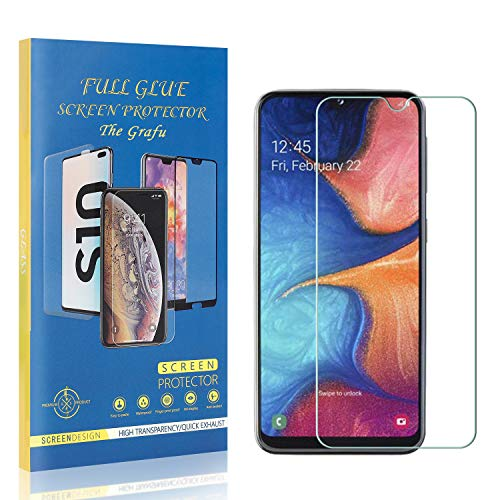 The Grafu Screen Protector for Galaxy A30, Ultra Clear, Bubble Free, 9H Tempered Glass Screen Protector for Samsung Galaxy A30, Drop Fall Protection, 1 Pack