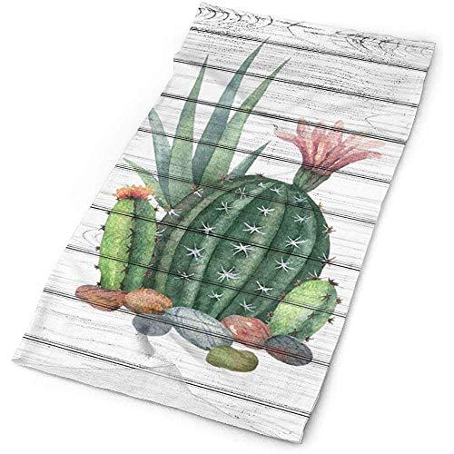 qinzuisp Kerchief Tekenen Cactus Masker Bandana 25X50cm Hals Gaiter Hoofd Wikkel Outdoor Hoofdbanden Hoofddeksels Gelukkig Halloween, Pasen, Kerstmis