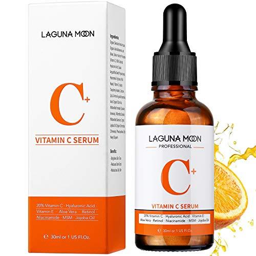 Lagunamoon Serum Vitamina C per viso, siero per viso con acido ialuronico, siero per il viso Anti aging
