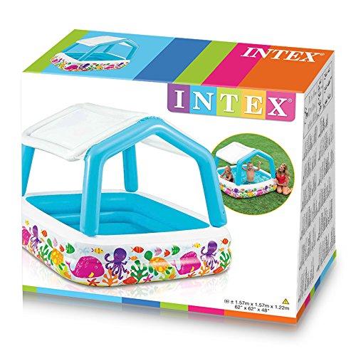 Intex John Adams 62 x 62-Inch Sun Shade Pool, Multicolour