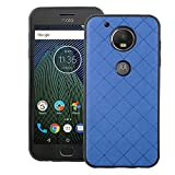 Phone Case for Motorola Moto G5 Plus Slim Soft Rubber Case,Shock Resistant Rugged Lightweight Flexible Anti-Slip Slim Fit Full Body Protective Rubber Phone Cover for MotoG5+ G 5 5th Gen Blue