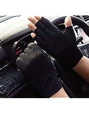 Men Women Driving Gloves Sun Gloves UV Protection Fishing Fingerless Gloves Summer Sunblock Gloves Non-Slip Touchscreen Gym Fitness Exercise Gloves Half Finger Cycling Golf Riding Gloves