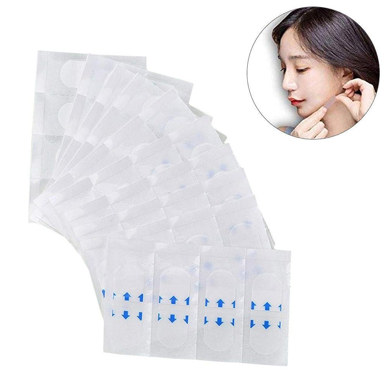 キャンセルばかげている虫を数えるメーキャップツール、メイクアップ用透明テープ、顔のためのテープ、顔のステッカー、顎のリフト美容ツールの目に見えないステッカー, 40PCS/PACK